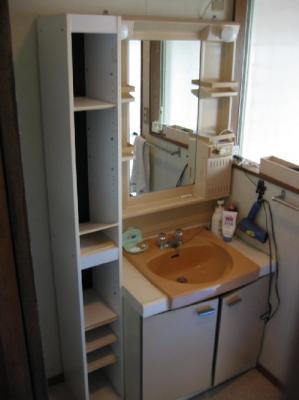収納豊富な洗面化粧台