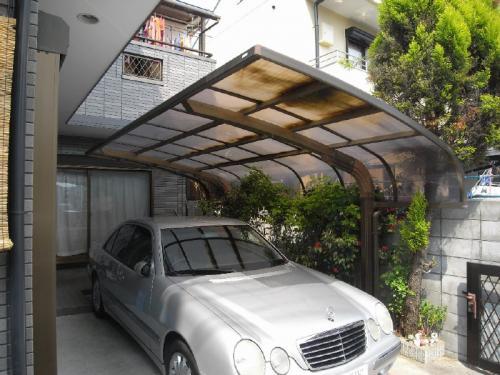 カーポート屋根材の取替え