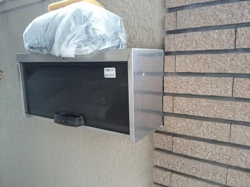 郵便ポストを大きくしました