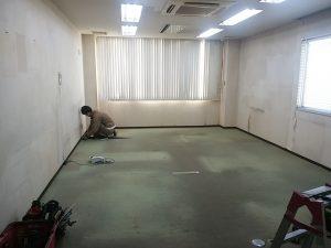 タイルカーペット施工前