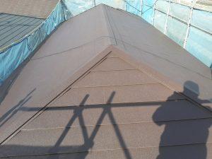 瓦からガルバリウム屋根への葺き替えが終わりました