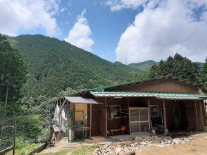 豊能町で山荘のリフォームが始まります